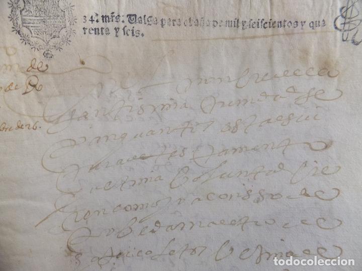 TESTAMENTO A POVEDA MAESTRO COLETOS GRANADA SAN GIL 1646 PAPEL SELLADO Coleccionismo