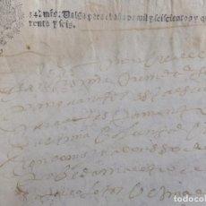 Manuscritos antiguos: TESTAMENTO A POVEDA MAESTRO COLETOS GRANADA SAN GIL 1646. PAPEL SELLADO. Lote 135281118