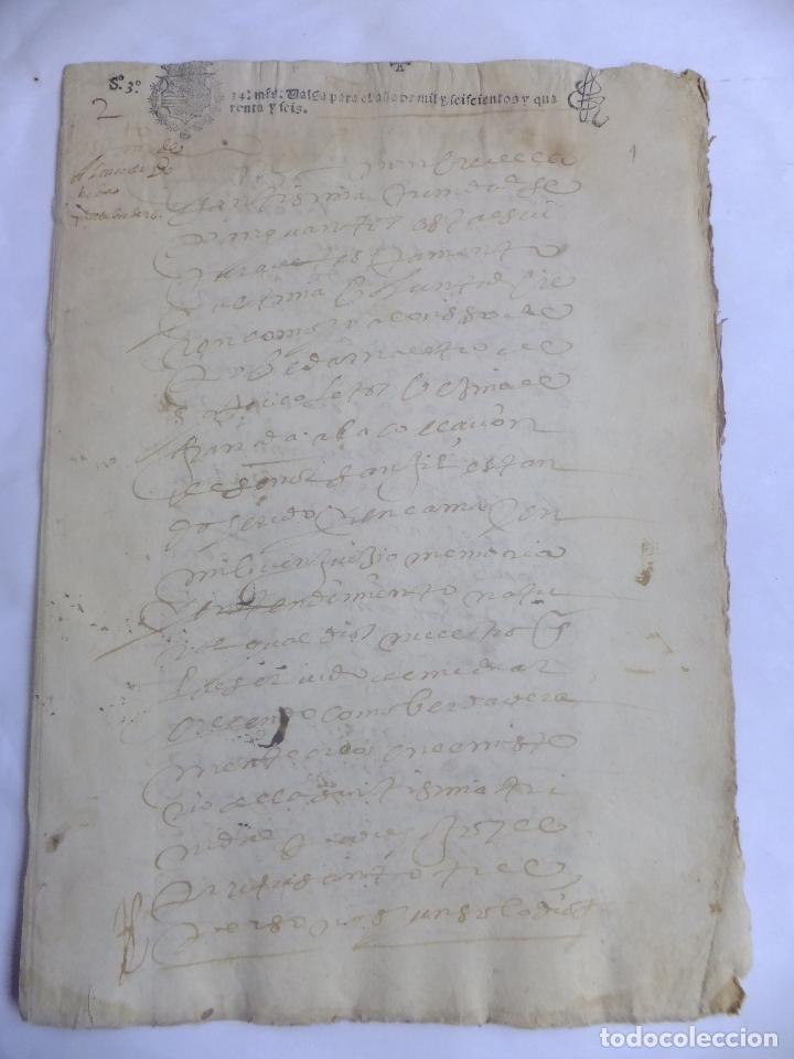 Manuscritos Antiguos Testamento A Poveda Maestro Coletos Granada San Gil 1646 Papel Sellado