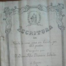 Manuscritos antiguos: ESCRITURA DE COMPRAVENTA DEL AÑO 1888. Lote 135555294