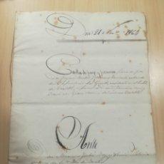 Manuscritos antiguos: TORTELLÀ - CAN PARELLA 1864 CARTA DE PAGAMENT I PROMESA. Lote 136412833