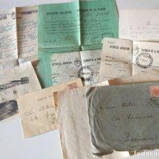 Manuscritos antiguos: ESPECTACULAR LOTE ORIGINAL CARTAS+TELEFRAFO ARGENTINA BUENOS AIRES POSTAL AVIADOR, UNICO. Lote 136550126