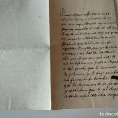 Manuscritos antiguos: CARTA A MANO ORIGINAL BUENOS AIRES 1913 FIRMADA ANTONIO IBAÑEZ. Lote 136550258
