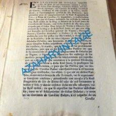 Manuscritos antiguos: SEVILLA, 1735, AUTO SOBRE DEHESAS DE PASTO DE CABALLOS Y YEGUAS, 4 PAGINAS. Lote 136744290