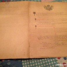 Manuscritos antiguos: CURIOSO ACTA 46X33CM DIPUTADOS DOCUMENTO HISTÓRICO 1901 MADRID. Lote 136806738