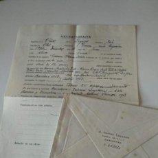 Manuscritos antiguos: AUTOBIOGRAFIA ORIGINAL A MANO FIRMADA POR JOSE OLIVET LEGARES,PINTOR DE OLOT+SOBRE. Lote 136824754