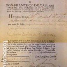 Manuscritos antiguos: INTERESANTE CARTA DE PAGO (RECIBÍ) DE 1750 (20 DE ENERO) -ORIGINAL - . Lote 137006694