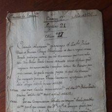 Manuscritos antiguos: MANUSCRITO DEL AÑO 1652. Lote 137368837