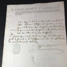 Manuscritos antiguos: MILITAR. MARINA. CUBA. CERTIFICADO DE ANGEL TOPETE Y CARBALLO. AÑO 1880. Lote 137459898