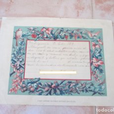 Manuscritos antiguos: CARTA MANUSCRITA DE UN ALUMNO A SUS FAMILIARES, MADRIGUERAS, JULIO DEL AÑO 1909.. Lote 137777714