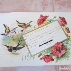 Manuscritos antiguos: CARTA MANUSCRITA DE UN ALUMNO A SUS FAMILIARES, MADRIGUERAS, DICIEMBRE DE 1911.. Lote 137778570