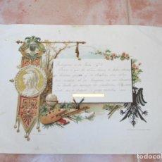 Manuscritos antiguos: CARTA MANUSCRITA DE UN ALUMNO A SUS FAMILIARES, MADRIGUERAS, JULIO DE 1910.. Lote 137778670