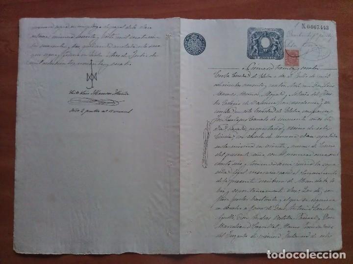 1894 DOCUMENTO NOTARIAL - LLEBRA ??? , VALENCIA / ELCHE ???? . ALICANTE (Coleccionismo - Documentos - Manuscritos)