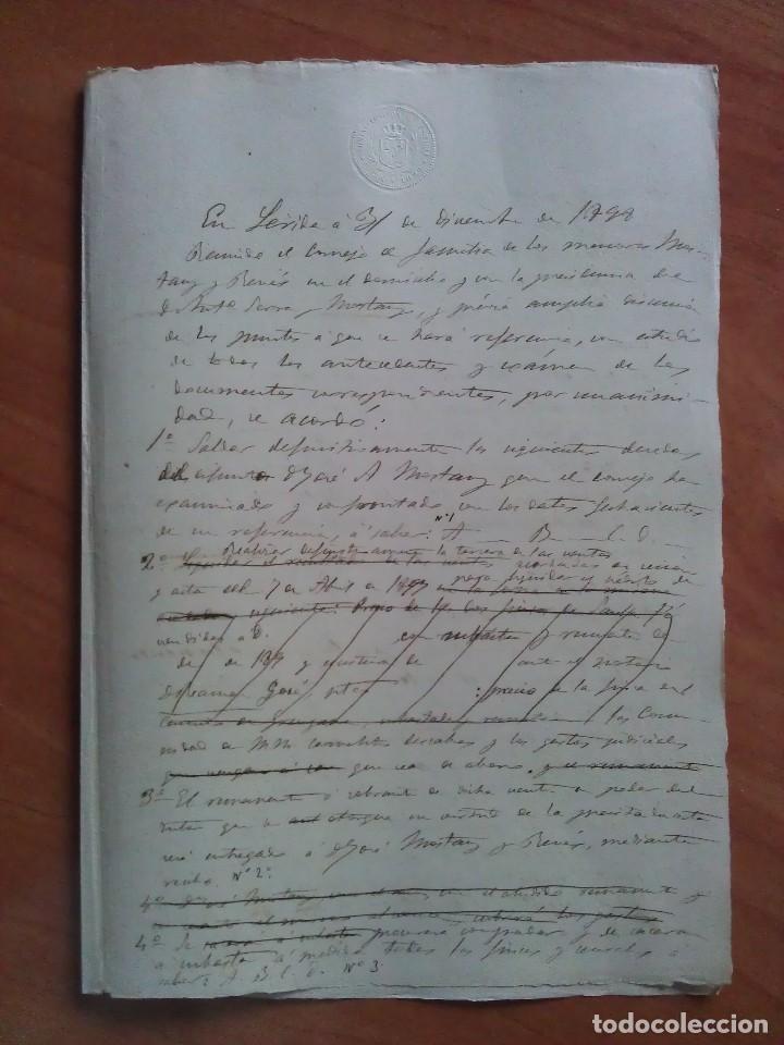 1899 BORRADOR DOCUMENTO NOTARIAL - SEVILLA (Coleccionismo - Documentos - Manuscritos)