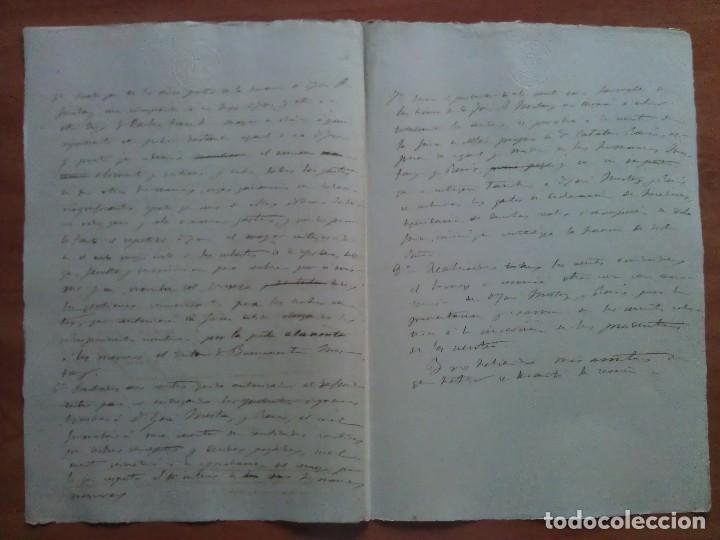 Manuscritos antiguos: 1899 BORRADOR DOCUMENTO NOTARIAL - SEVILLA - Foto 2 - 138092794