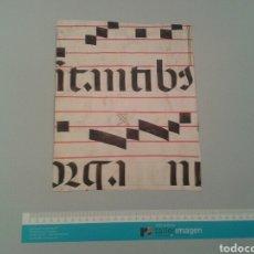 Manuscritos antiguos: FRAGMENTO CANTORAL MINIADO EN PERGAMINO. 216X265 MM.. Lote 138603050
