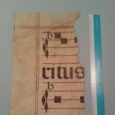 Manuscritos antiguos: FRAGMENTO DE CANTORAL MINIADO EN PERGAMINO. 235X415 MM.. Lote 138607164