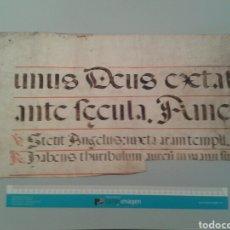 Manuscritos antiguos: FRAGMENTO DE CANTORAL MINIADO EN PERGAMINO. 620X280MM.. Lote 138692862