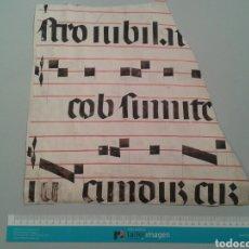 Manuscritos antiguos: FRAGMENTO DE CANTORAL MINIADO EN PERGAMINO. 340X340 MM.. Lote 138693641