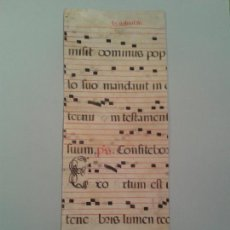 Manuscritos antiguos: FRAGMENTO DE CANTORAL MINIADO EN PERGAMINO. 520X210 MM.. Lote 138694421