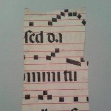Manuscritos antiguos: FRAGMENTO DE CANTORAL MINIADO EN PERGAMINO. 210X390.. Lote 138697917