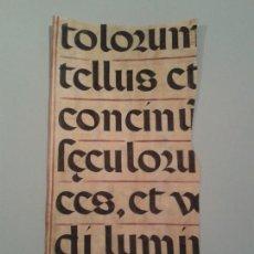 Manuscritos antiguos: FRAGMENTO DE CANTORAL MINIADO EN PERGAMINO. 240X415MM.. Lote 138698544