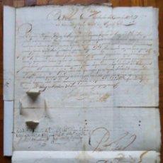 Manuscritos antiguos: GALICIA.'PATENTE Y NOMBRAMIENTO DE CAPITAN DE LA MILICIA DEL PUERTO Y PARTIDO DE MUXIA' 1653.SELLO. Lote 138900714