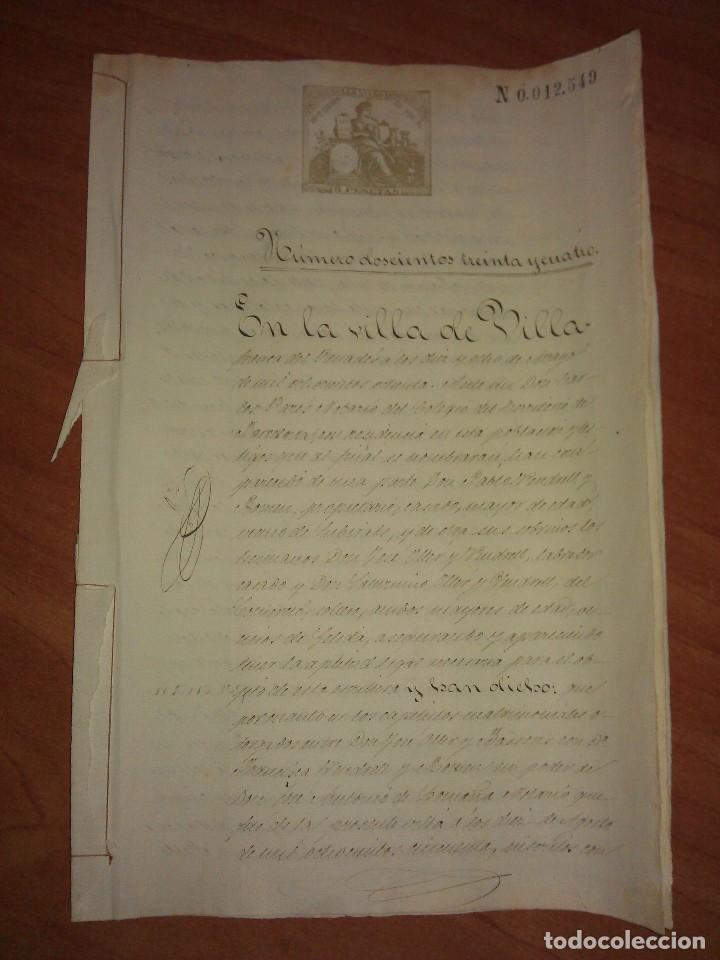 1880 CARTA PAGO LEGITIMA - VILLAFRANCA DEL PENEDES (Coleccionismo - Documentos - Manuscritos)