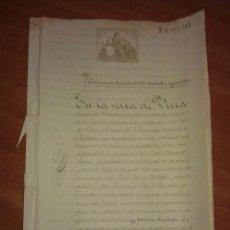Manuscritos antiguos: 1880 CARTA PAGO LEGITIMA - VILLAFRANCA DEL PENEDES. Lote 138957374
