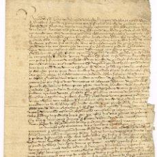 Manuscritos antiguos: GUISSONA SEGLE XV TESTAMENT DE DALMASI DE VILALTA FILL DE BERENGUER DE VILALTA . Lote 139436714