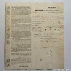 Manuscritos antiguos: CUBA MATANZAS 1856 * CEDULA DE SEGURIDAD DE UN ESCLAVO EMANCIPADO. Lote 139654442