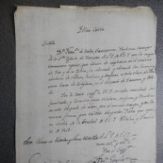 Manuscritos antiguos: FIRMA OBISPO LEÓN MANUSCRITO AÑO 1803 VILLALÓN SOLICITUD PERMISO CONFESAR. Lote 140326898
