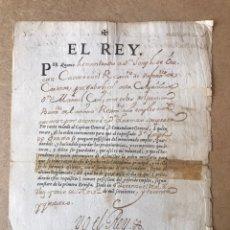 Manuscritos antiguos: FIRMA O AUTOGRAFO FELIPE V 1734. Lote 159316073