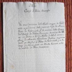 Manuscritos antiguos: 1603-CORTIJO DE PEÑAS BERMEJAS.ILLORA.GRANADA.JUAN PÉREZ DE VALENZUELA. ORIGINAL. Lote 140426826