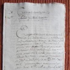 Manuscritos antiguos: 1596-CORTIJO DEL ARCACHOFAN?, SALADO Y PEÑAS BERMEJAS.ILLORA.GRANADA. ORIGINAL. Lote 140427402