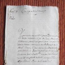 Manuscritos antiguos: 1593-CORTIJO DE PEÑAS BERMEJAS.ILLORA.GRANADA.HIJOS DE JUAN DE VALENZUELA ORIGINAL.. Lote 140428694