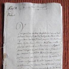 Manuscritos antiguos: 1592-CORTIJO DE PEÑAS BERMEJAS.ILLORA.GRANADA.BARTOLOMÉ LÓPEZ. ORIGINAL.. Lote 140428886