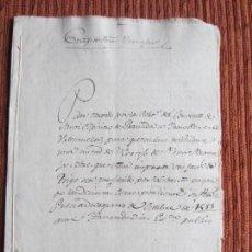 Manuscritos antiguos: 1581-CORTIJO DE PEÑAS BERMEJAS.ILLORA.GRANADA.RELIGIOSAS SANTO ESPIRITO.ORIGINAL.. Lote 140429830