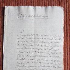 Manuscritos antiguos: 1581-CORTIJO DE PEÑAS BERMEJAS.ILLORA.GRANADA.ORIGINAL.CONVENTO ESPIRITU SANTO. Lote 140430126