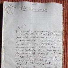 Manuscritos antiguos: 1567-CORTIJO DE PEÑAS BERMEJAS.ILLORA.GRANADA.ORIGINAL.APARECE -EL REY-. Lote 140430626
