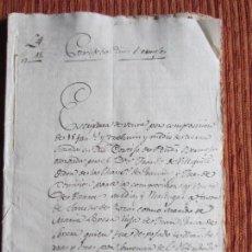 Manuscritos antiguos: 1567-CORTIJO DE PEÑAS BERMEJAS.ILLORA.GRANADA.ORIGINAL.FRANCISCO DE VILLAFUERTE?VILLAFUENTE?. Lote 140431098