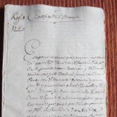 Manuscritos antiguos: 1567-CORTIJO DE PEÑAS BERMEJAS.ILLORA.GRANADA.ORIGINAL.FRANCISCO DE VILLAFAÑO. Lote 140431458