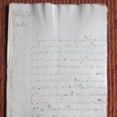 Manuscritos antiguos: 1548-CORTIJO DE PEÑAS BERMEJAS.ILLORA.GRANADA.ORIGINAL. ANTONIA MARTÍN. Lote 140432498