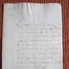 Manuscritos antiguos: 1548-CORTIJO DE PEÑAS BERMEJAS.ILLORA.GRANADA.ORIGINAL. FRANCISCO DE LAS CUEVAS.LAS CABEZAS. Lote 140433098