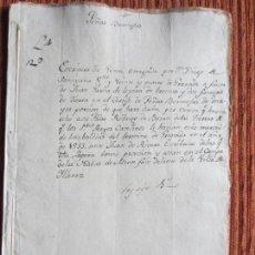 Manuscritos antiguos: 1533-CORTIJO DE PEÑAS BERMEJAS.ILLORA.GRANADA.ORIGINAL.DIEGO DE SANYLLÁN.POST-INCUNABLE. Lote 140433870
