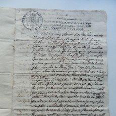 Manuscritos antiguos: MANUSCRITO AÑO 1806 ( SELLO 4º ) CASTELLÓ DE FARFANYA ( LLEIDA ) DONACION ENTRE VECINOS. Lote 140590726