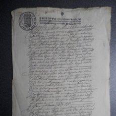 Manuscritos antiguos - MANUSCRITO AÑO 1637 RARÍSIMO FISCAL 3º (1ER AÑO DE PAPEL TIMBRADO) PERALTA NAVARRA PAGO DEUDAS - 140856170
