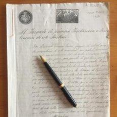 Manuscritos antiguos: VELEZ RUBIO- ALMERIA- MANUSCRITO 1.907- ELECCIONES A DIPUTADOS - DENUNCIA- FRAUDE- COACCIONES. Lote 141216286
