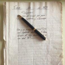 Manuscritos antiguos: CIEZA- MURCIA- MANUSCRITO 1.821- VINCULO PEDRO CAPDEVILA Y BUITRAGO. Lote 141216874