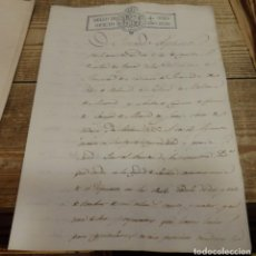 Manuscritos antiguos: 1830, MANUSCRITO CON SELLO DE PLACA DE FERNANDO VII, MAGNIFICO. Lote 141231450